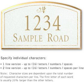 Salsbury 1422WGDS Signature Series Address Plaque