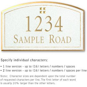 Salsbury 1422WGGS Signature Series Address Plaque