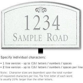 Salsbury 1422WSFL Signature Series Address Plaque