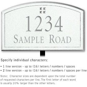 Salsbury 1422WSGL Signature Series Address Plaque