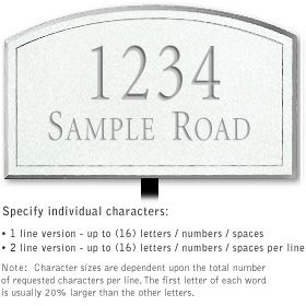 Salsbury 1422WSNL Signature Series Address Plaque
