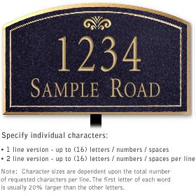 Salsbury 1421BGFL Signature Series Address Plaque