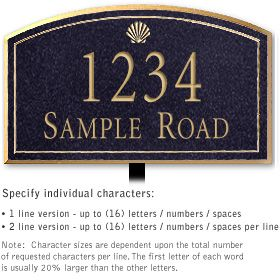 Salsbury 1421BGSL Signature Series Address Plaque