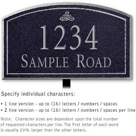 Salsbury 1421BSIL Signature Series Address Plaque
