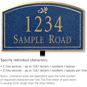 Salsbury 1421CGDL Signature Series Address Plaque