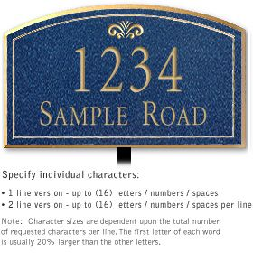 Salsbury 1421CGFL Signature Series Address Plaque