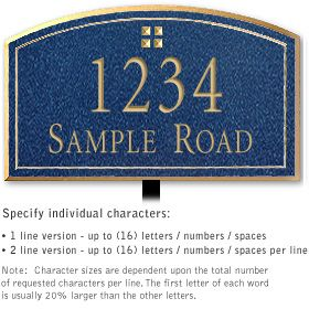 Salsbury 1421CGGL Signature Series Address Plaque