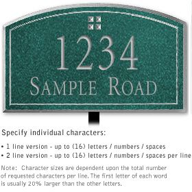 Salsbury 1421JSGL Signature Series Address Plaque