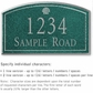 Salsbury 1421JSSS Signature Series Address Plaque
