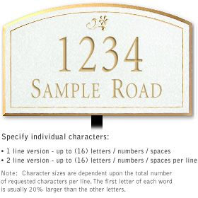 Salsbury 1421WGDL Signature Series Address Plaque