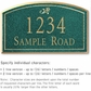 Salsbury 1420JGDS Signature Series Address Plaque