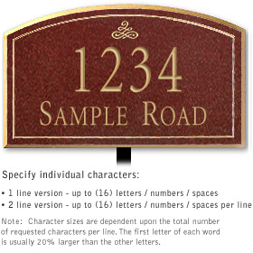 Salsbury 1420MGIL Signature Series Address Plaque