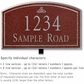 Salsbury 1420MSFL Signature Series Address Plaque