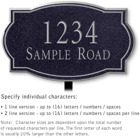 Salsbury 1442BSNL Signature Series Address Plaque
