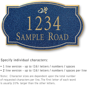 Salsbury 1442CGDS Signature Series Address Plaque