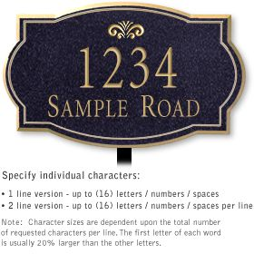 Salsbury 1440BGFL Signature Series Address Plaque