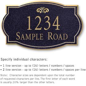 Salsbury 1440BGFS Signature Series Address Plaque