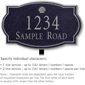 Salsbury 1440BSSL Signature Series Address Plaque