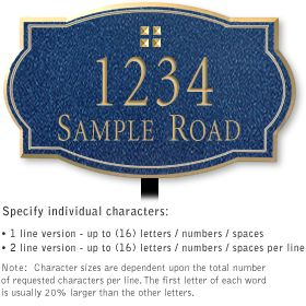Salsbury 1440CGGL Signature Series Address Plaque