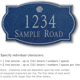 Salsbury 1440CSSS Signature Series Address Plaque