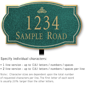 Salsbury 1440JGIL Signature Series Address Plaque