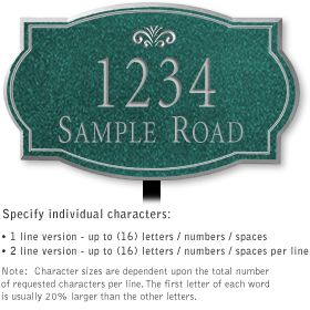 Salsbury 1440JSFL Signature Series Address Plaque