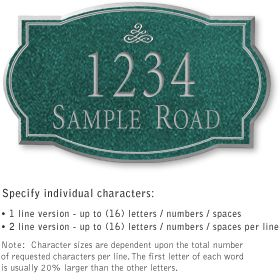 Salsbury 1440JSNL Signature Series Address Plaque