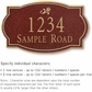 Salsbury 1440MGDS Signature Series Address Plaque