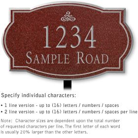 Salsbury 1440MSIL Signature Series Address Plaque