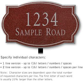 Salsbury 1440MSNL Signature Series Address Plaque