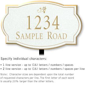 Salsbury 1440WGDL Signature Series Address Plaque