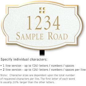 Salsbury 1440WGGL Signature Series Address Plaque