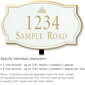 Salsbury 1440WGIL Signature Series Address Plaque