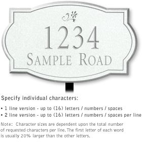 Salsbury 1440WSDL Signature Series Address Plaque