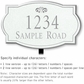Salsbury 1440WSFL Signature Series Address Plaque
