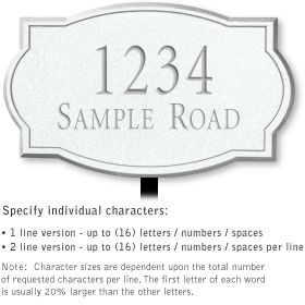Salsbury 1440WSNL Signature Series Address Plaque
