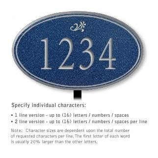 Salsbury 1432CSDL Signature Series Address Plaque