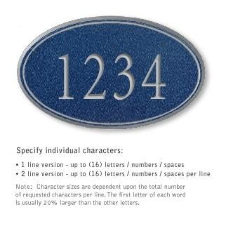 Salsbury 1432CSNS Signature Series Address Plaque