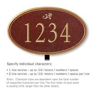 Salsbury 1432MGDL Signature Series Address Plaque