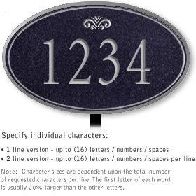 Salsbury 1431BSFL Signature Series Address Plaque
