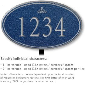 Salsbury 1431CSIL Signature Series Address Plaque