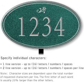 Salsbury 1431JSDL Signature Series Address Plaque