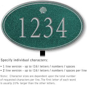 Salsbury 1431JSSL Signature Series Address Plaque