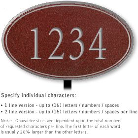 Salsbury 1431MSNL Signature Series Address Plaque