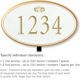 Salsbury 1431WGFL Signature Series Address Plaque