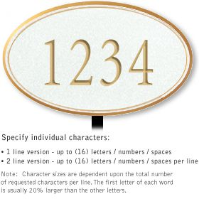 Salsbury 1431WGNL Signature Series Address Plaque