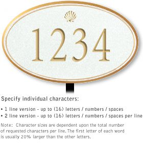 Salsbury 1431WGSL Signature Series Address Plaque