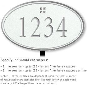 Salsbury 1431WSGL Signature Series Address Plaque