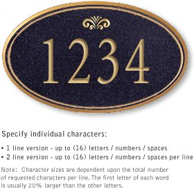 Salsbury 1430BGFS Signature Series Address Plaque