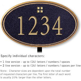 Salsbury 1430BGGL Signature Series Address Plaque
